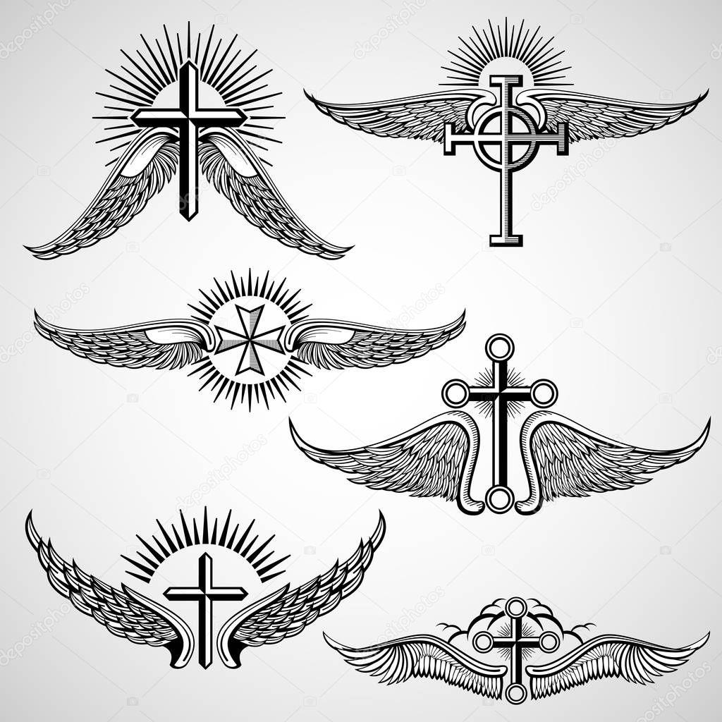Tattoo Kruis Met Vleugels Archidev