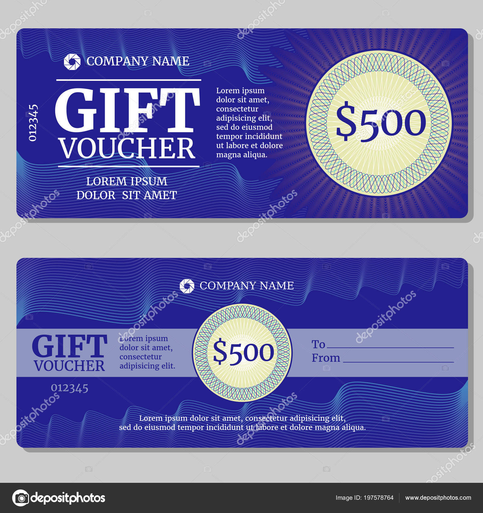 Vintage Gift Certificate Voucher Coupon Vector Mockup With Money