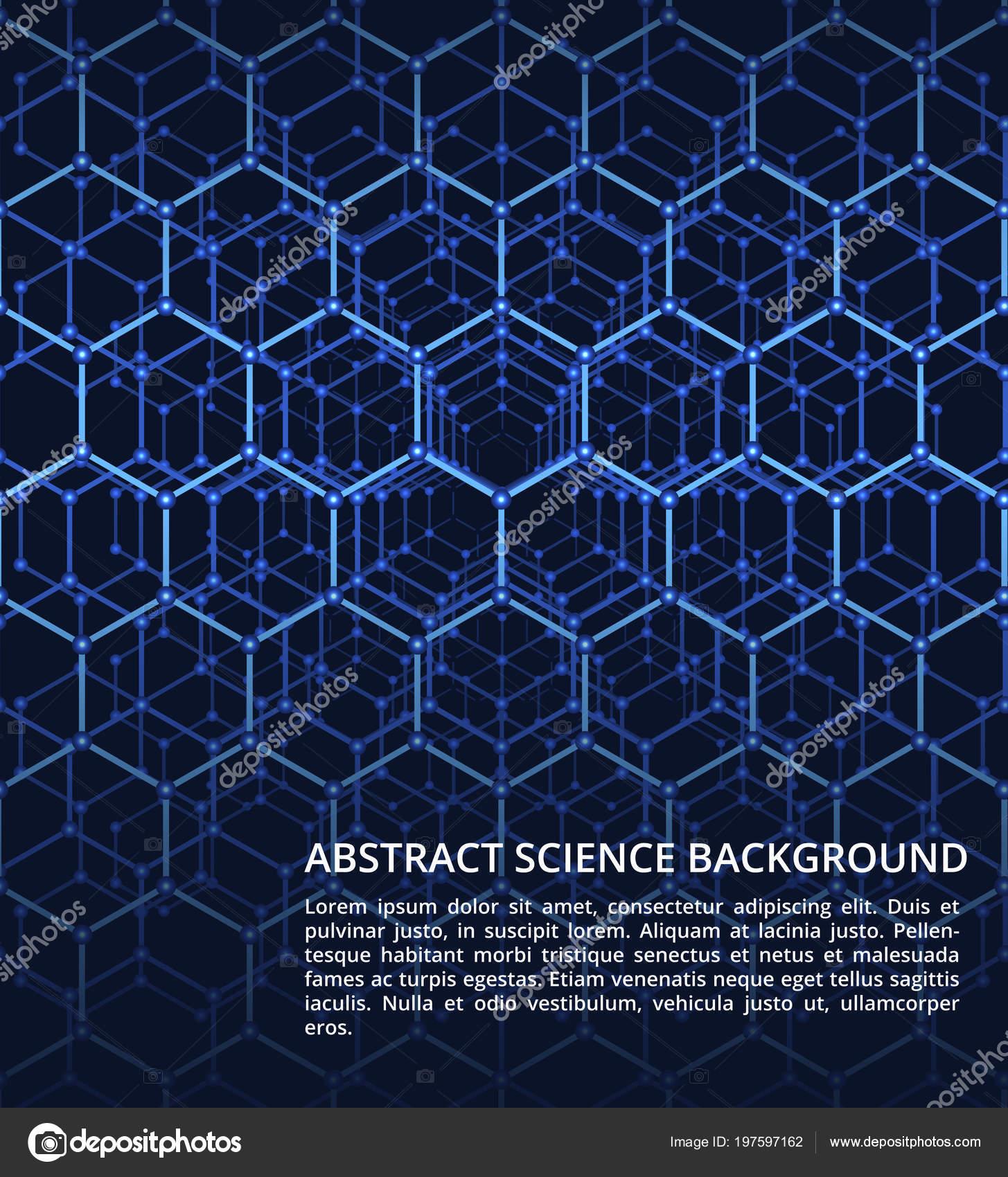 Química Ciencia Adn Vector Futurista Biología Fondo Con