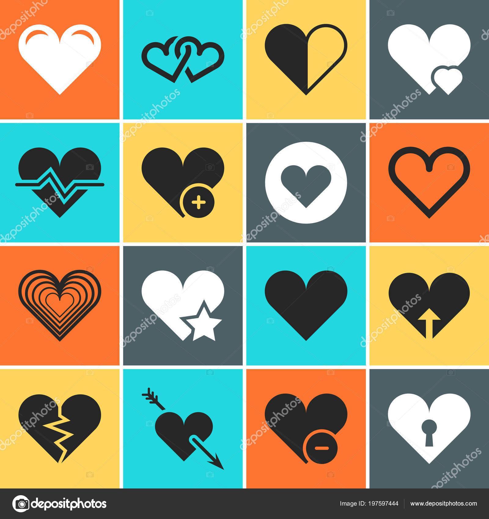 Vektor Herz Icons Fur Einladungskarten Hochzeit Und Valentinstag