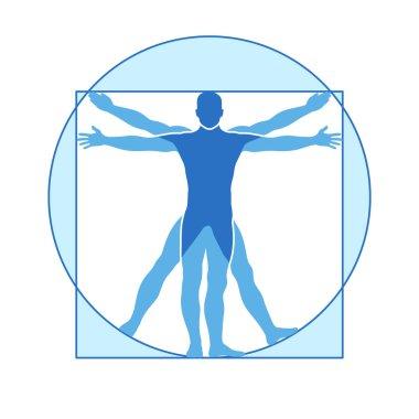 Human body vector icon similar vitruvian man
