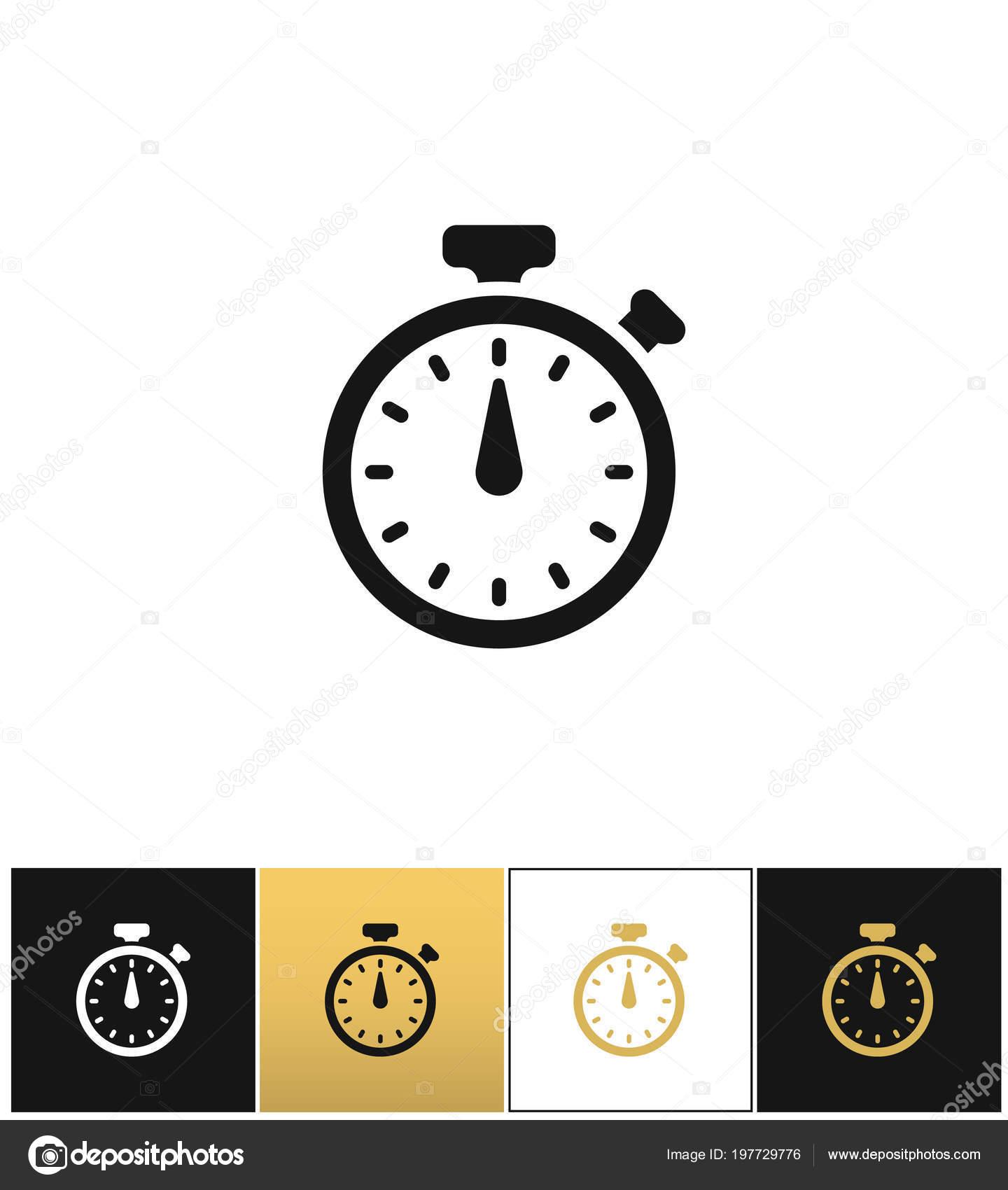 8da2c03ecaa Sinal de cronômetro ou relógio analógico precisão rápida cronômetro  temporizador vector ícone — Vetores de Stock