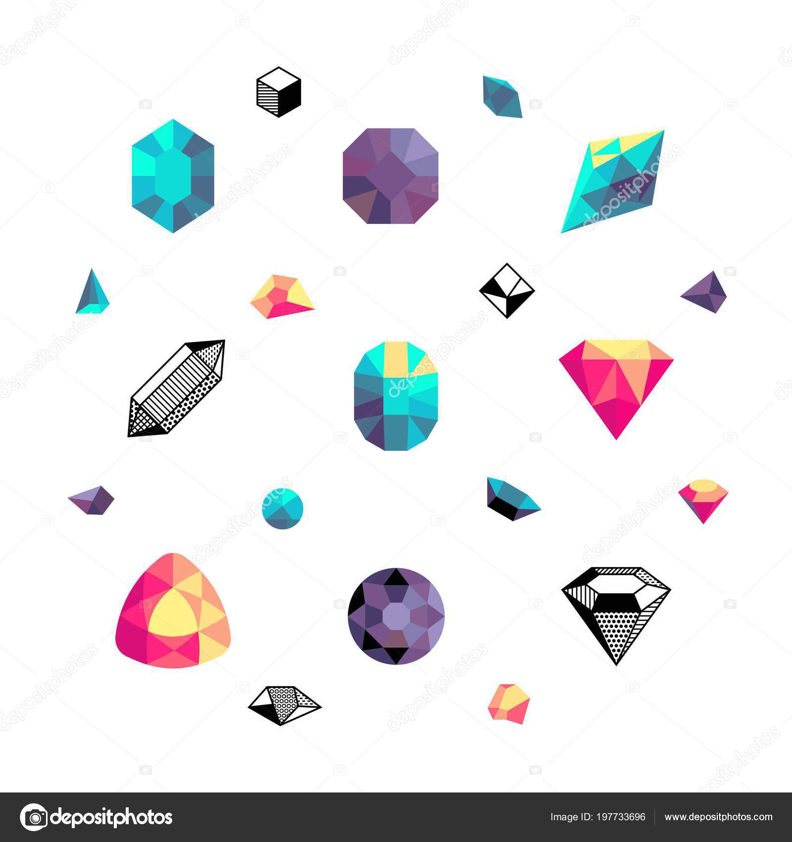 mosaic background polygon colorful heart broken valentine stock diamond vector depositphotos illustration geometric abstract pattern