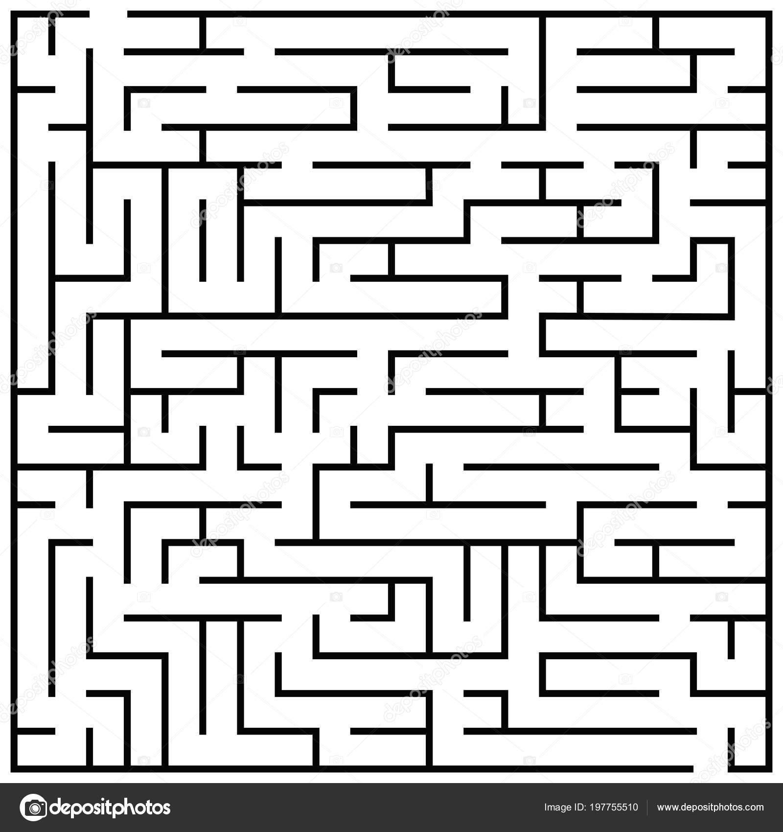 Puzzle Laberinto Enigma Laberinto Ninos Ilustracion Vectorial Juego