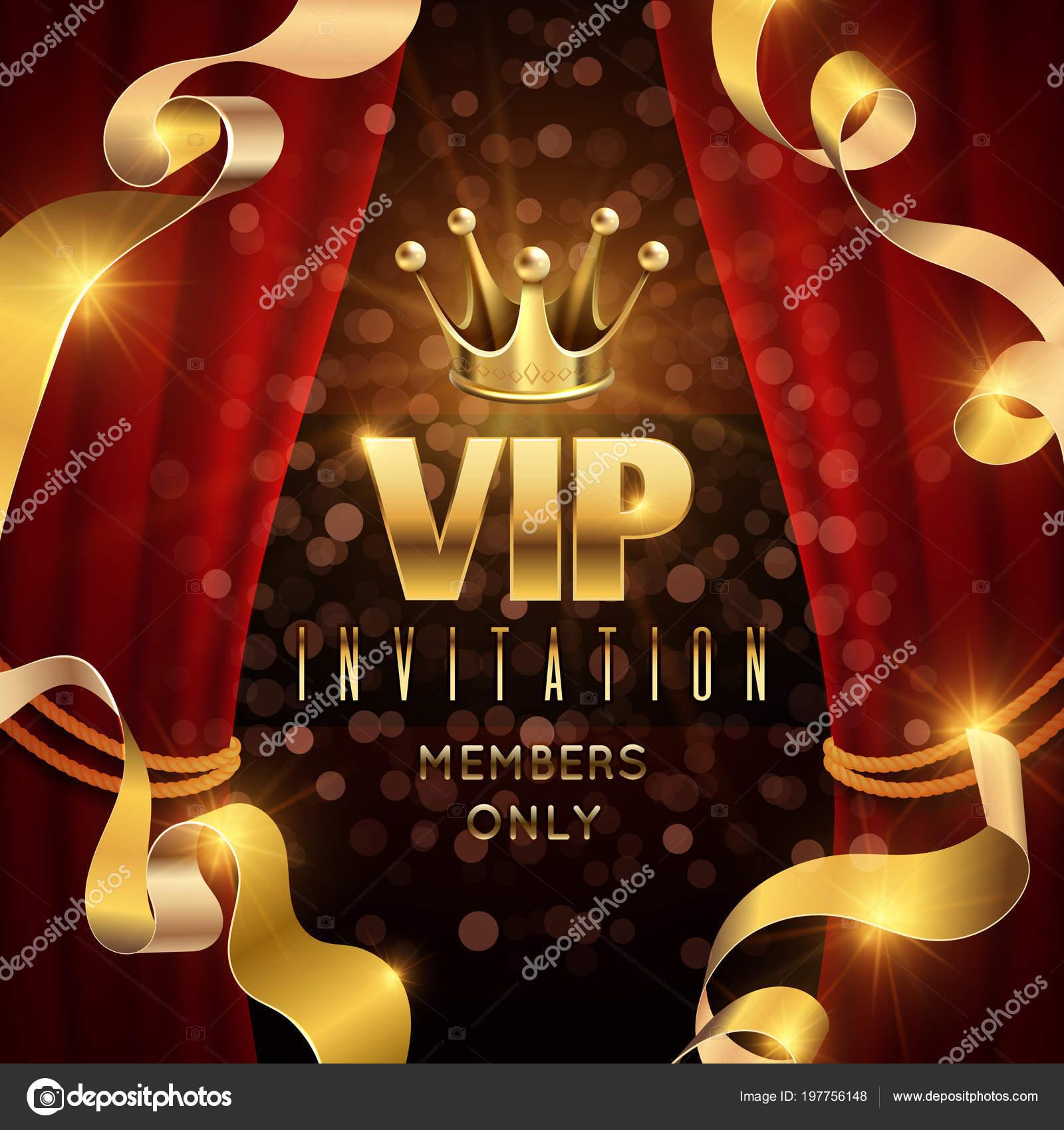 Elegance Et Soiree Exclusive Vector Invitation Avec Luxe Or Couronne