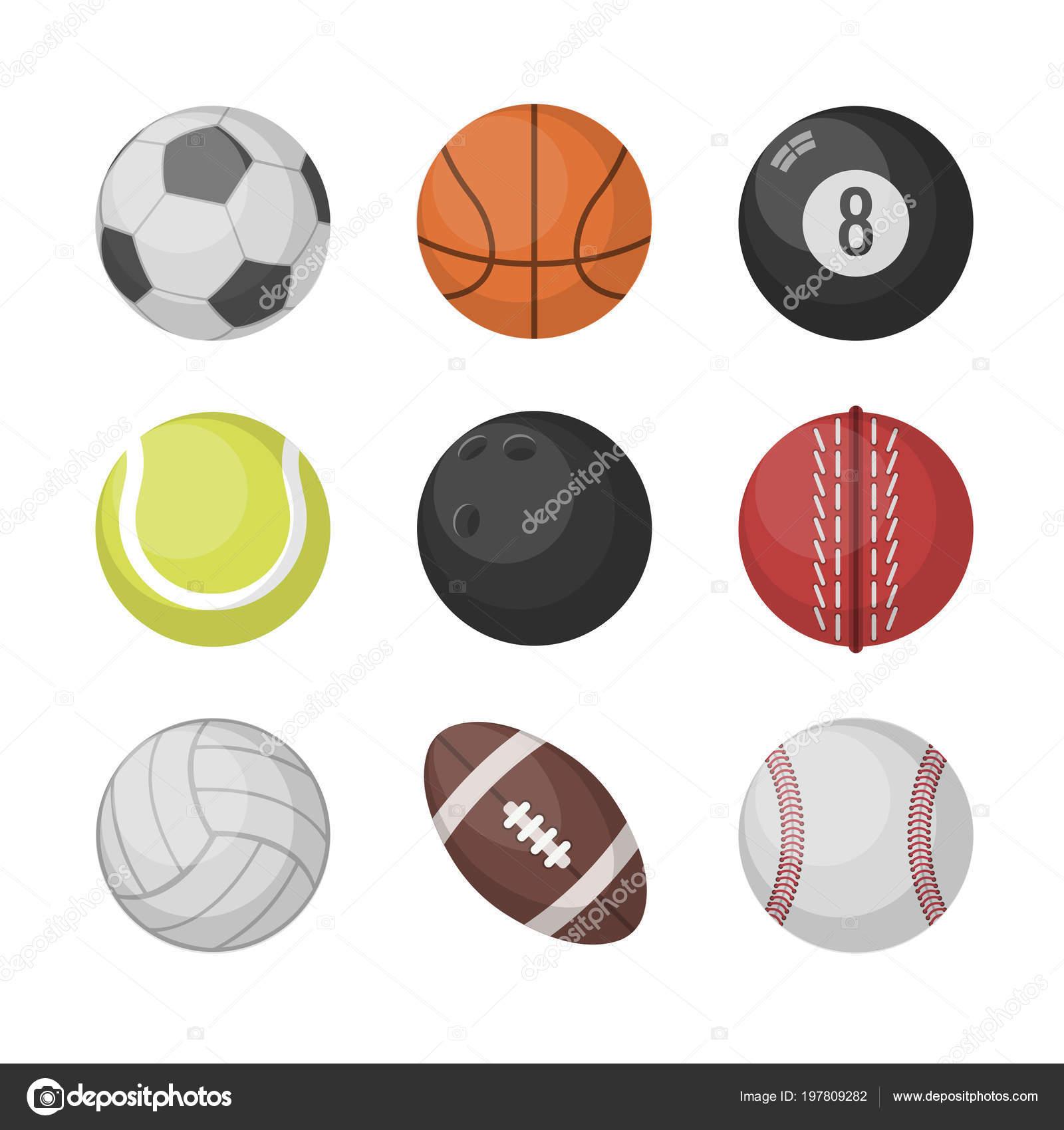Bolas de esportes conjunto de vetores. basquete 2603e29dc31de