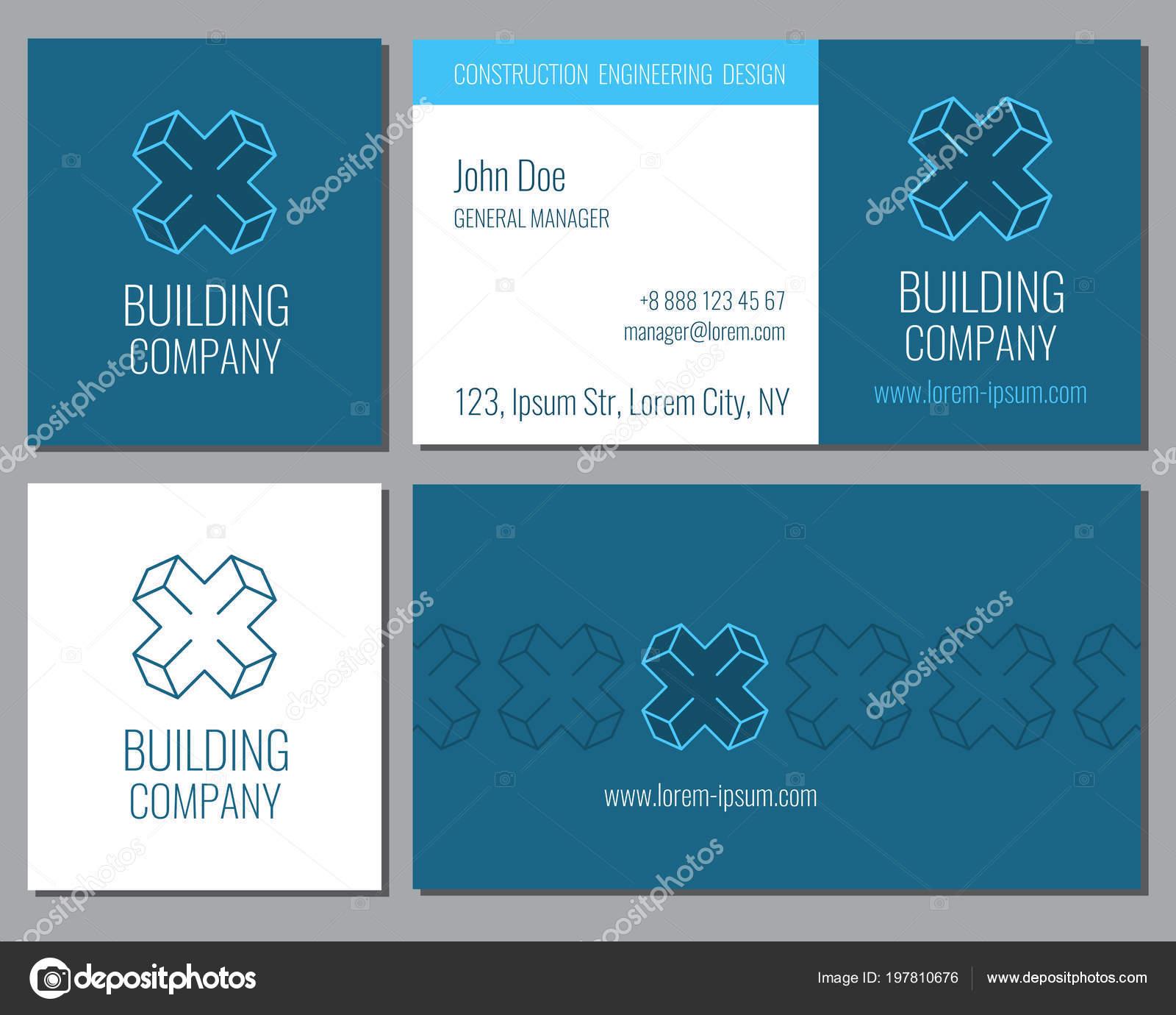 Kreative Visitenkarte Vektor Vorlage Mit Corporate Sechseck
