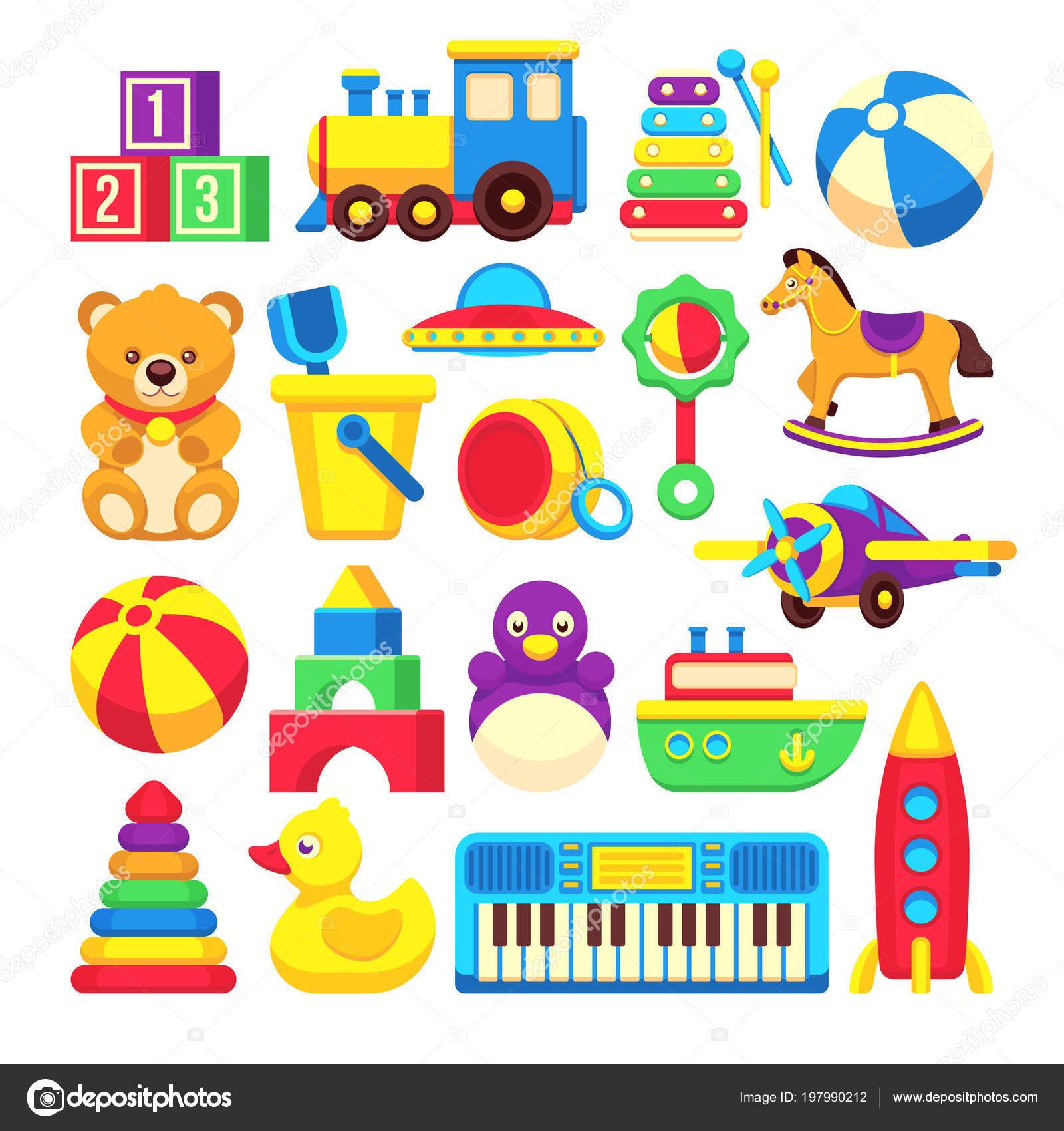 A Ton Of Rooms With Colorful Toys: Crianças Brinquedos Dos Desenhos Animados Coleção De