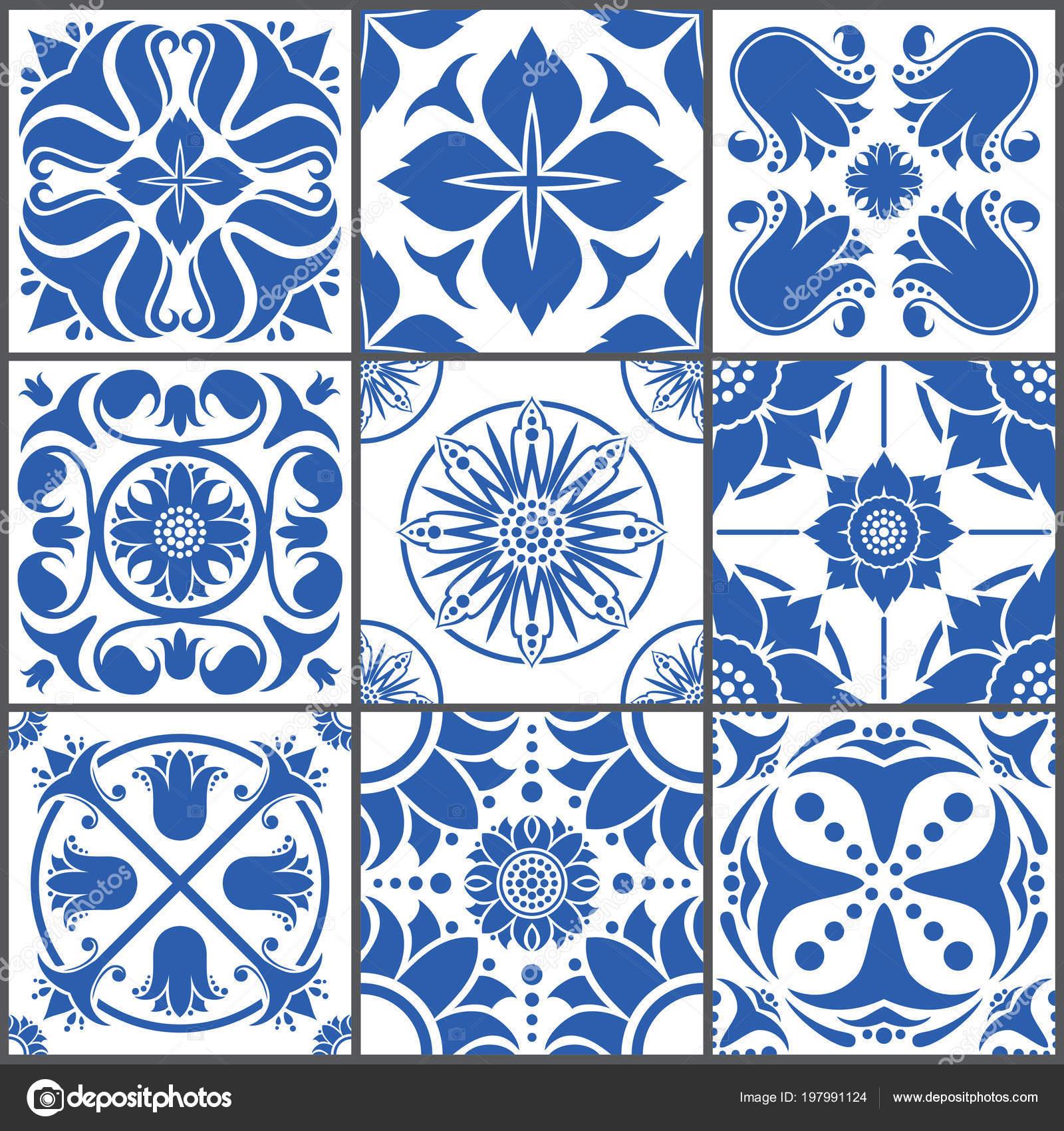 Vintage ceramic tiles vector illustration. Floor seamless design ...