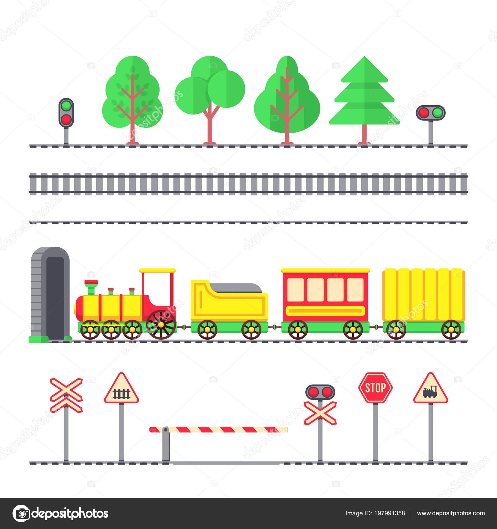 passageiro de brinquedo dos desenhos animados de trem ferrovia de