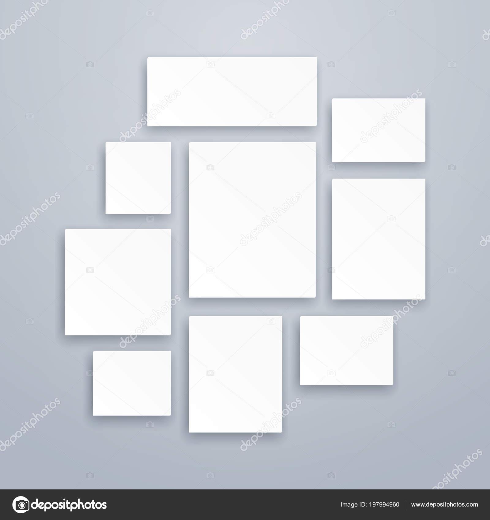 Cornici Per Poster.3d Bianco In Bianco Di Carta Tela O Foto Cornici Mockup