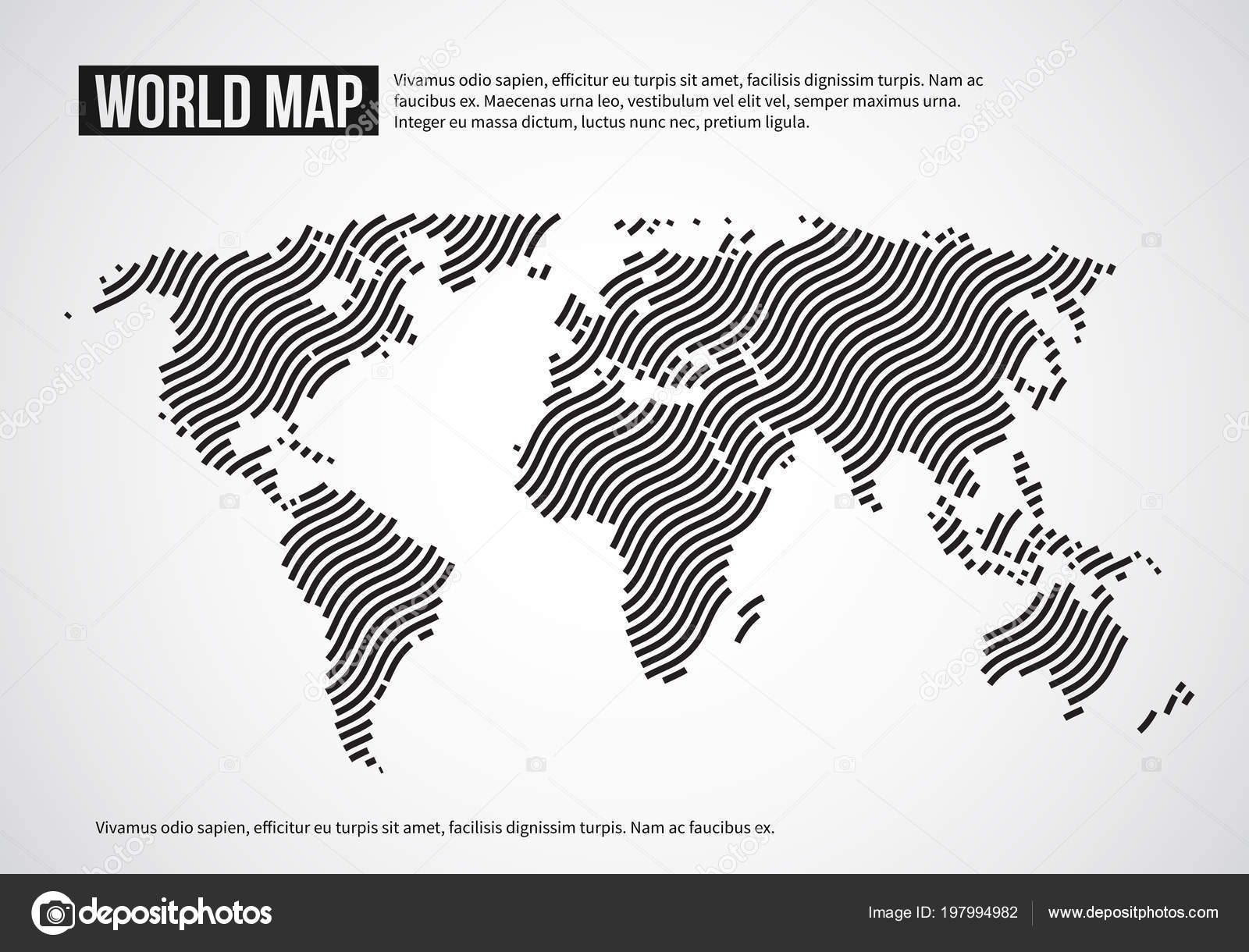 World map of wavy lines abstract globe continents topography vector world map of wavy lines abstract globe continents topography vector infographic background design world map illustration of banner with world continent gumiabroncs Images