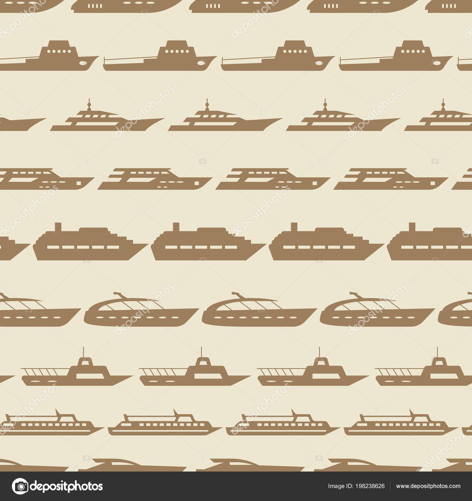 Barcos y embarcaciones vendimia de patrones sin fisuras — Archivo ...