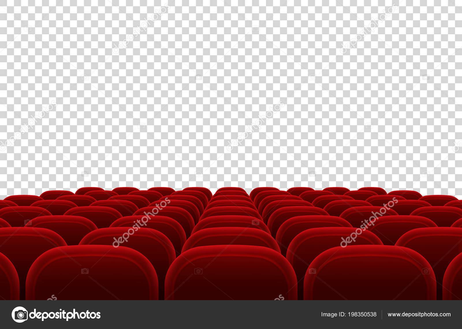 1746121a9 Auditório de teatro de filme vazio com lugares vermelhos. Ilustração em  vetor de isolado interior salão cinema. Interior do Auditório Municipal de  teatro e ...