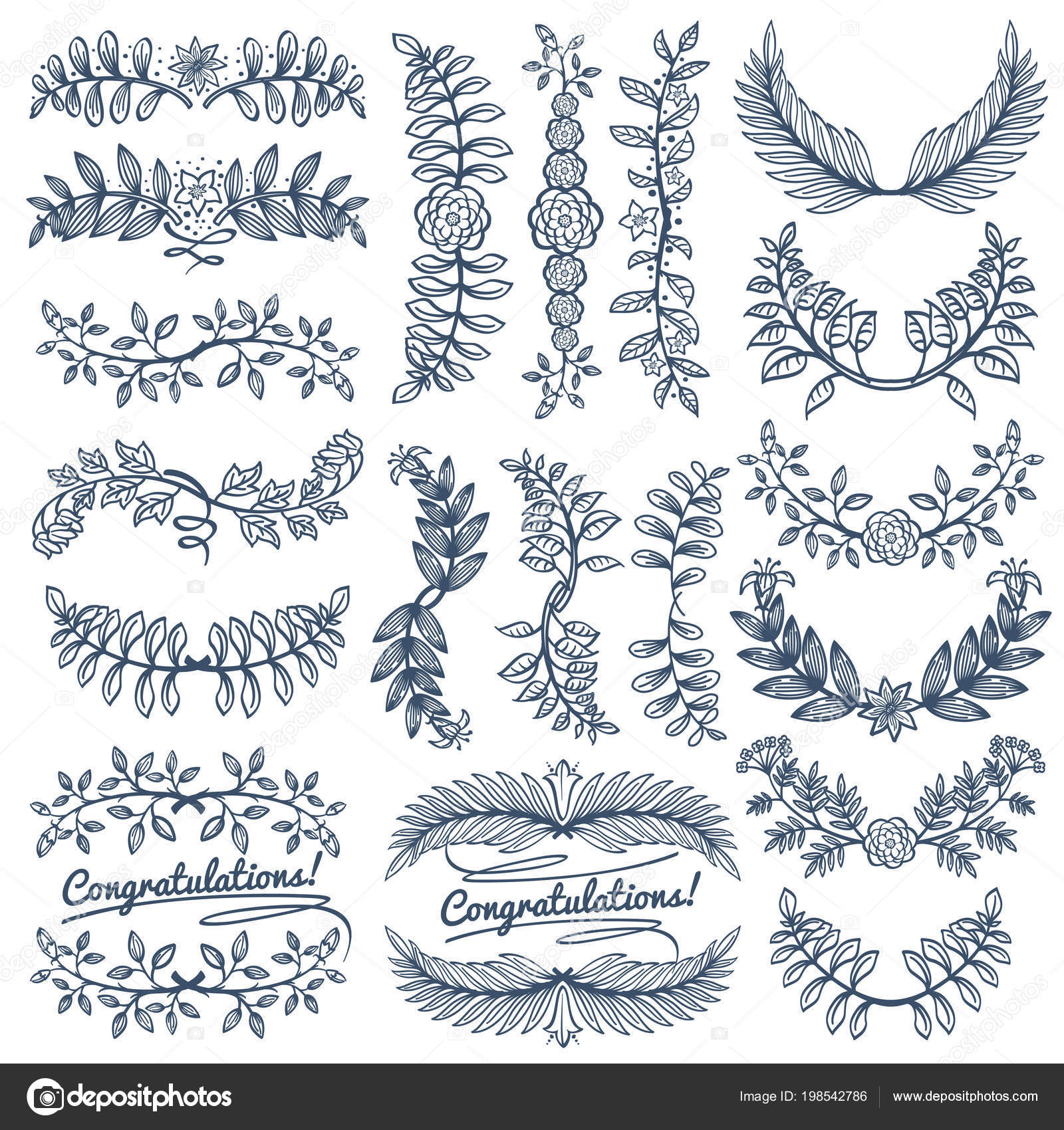 Vintage rustic decoration wedding celebration design sketch empty vintage rustic decoration for wedding celebration design sketch empty wreath and border frames vector set decoration wreath frame illustration of flower junglespirit Images