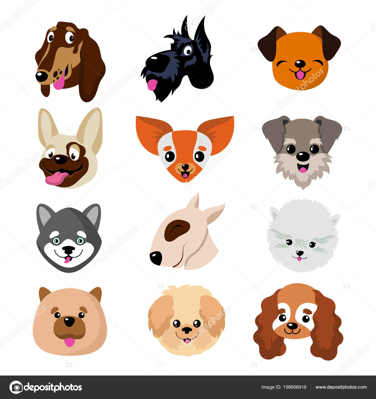 Dibujos Caras De Perro Caras De Perro De Dibujos Animados
