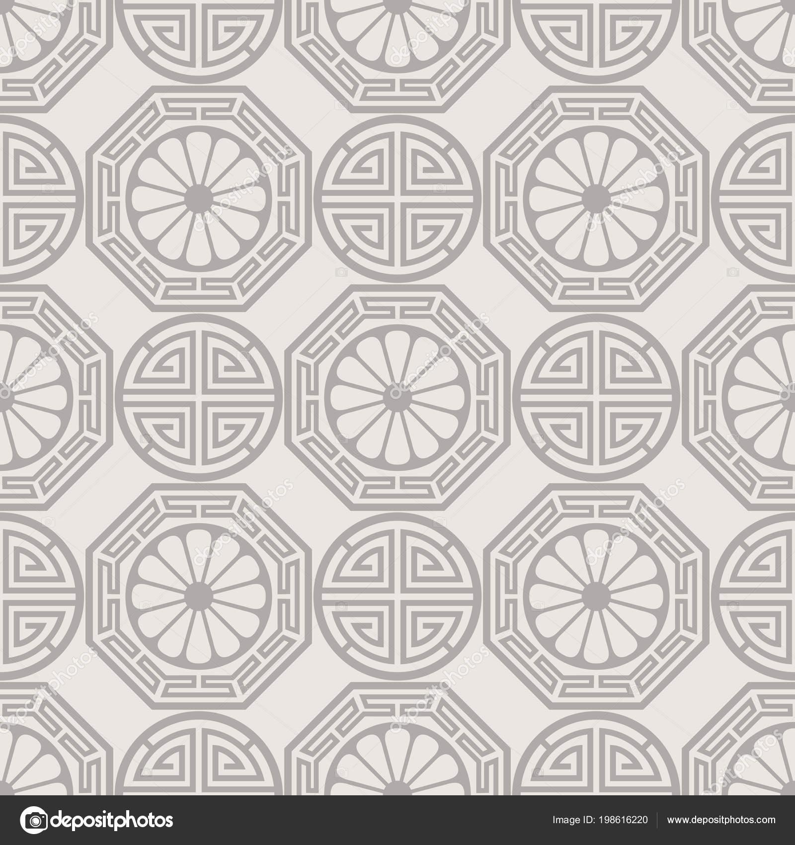 Diseño de patrones sin fisuras Coreano, Japonés, Chino tradicional ...
