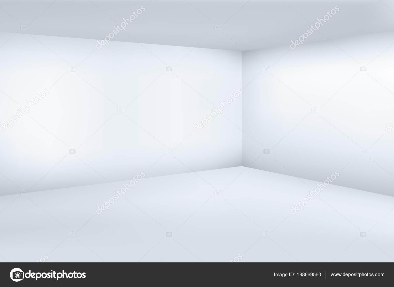 Leere Weiße 3d Modernes Zimmer Mit Raum Sauber Ecke Vektor
