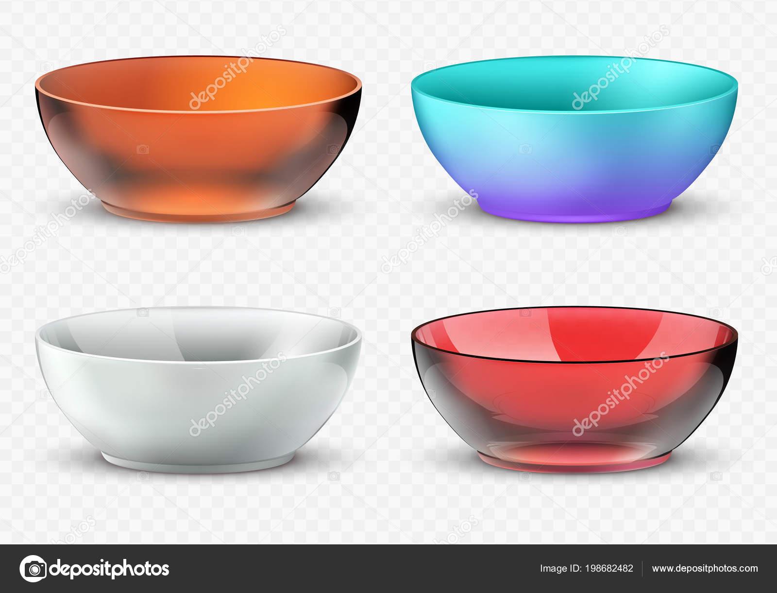 en soldes 46400 b36ba Bols de nourriture vide vecteur réaliste. Set de vaisselle ...
