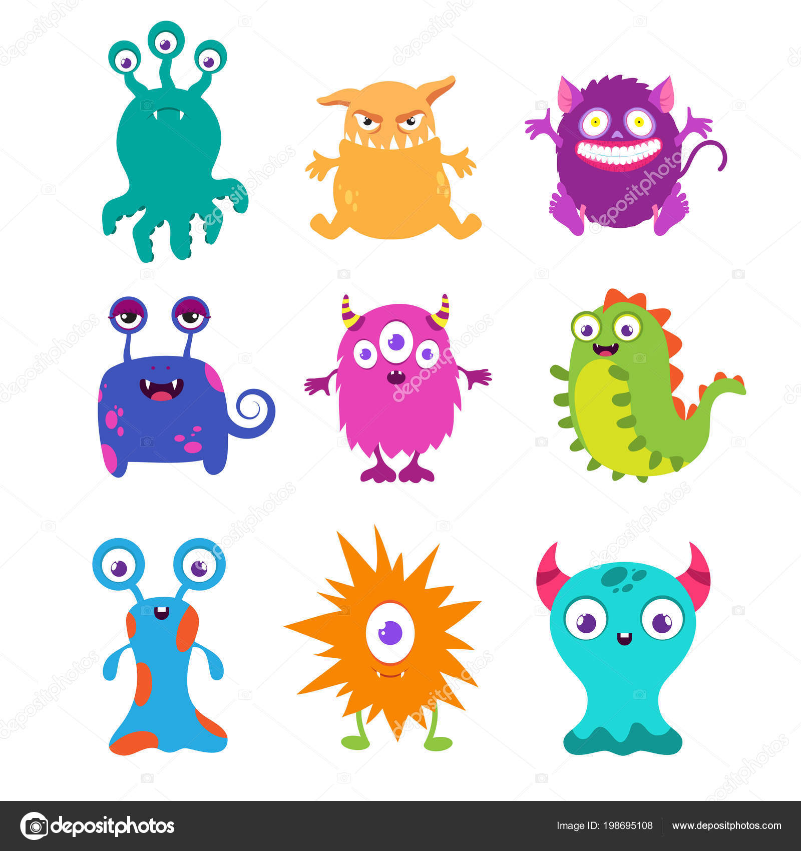 Vecteur de monstres rigolos dessin anim pour la - Images de monstres rigolos ...