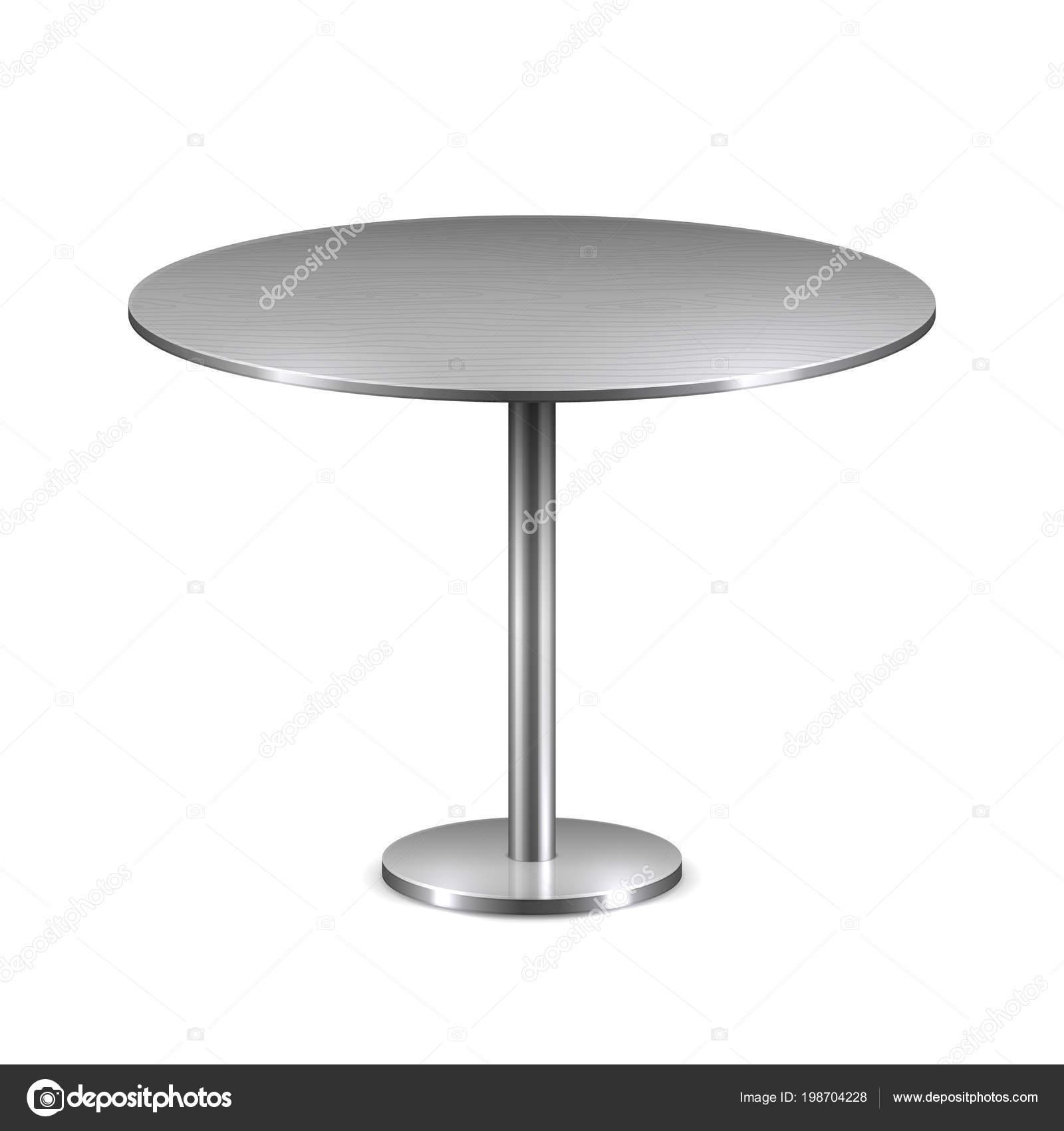 Tavolo Rotondo Moderno Vuoto Con Metallo Basamento Isolato ...