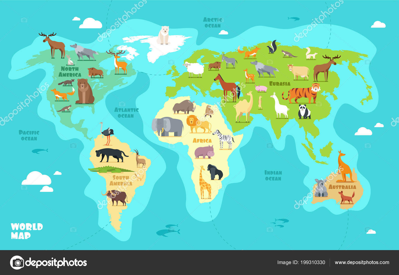 Dibujo Mapa Del Mundo Continentes.Imagenes Continentes Animados Mapa Del Mundo De Dibujos