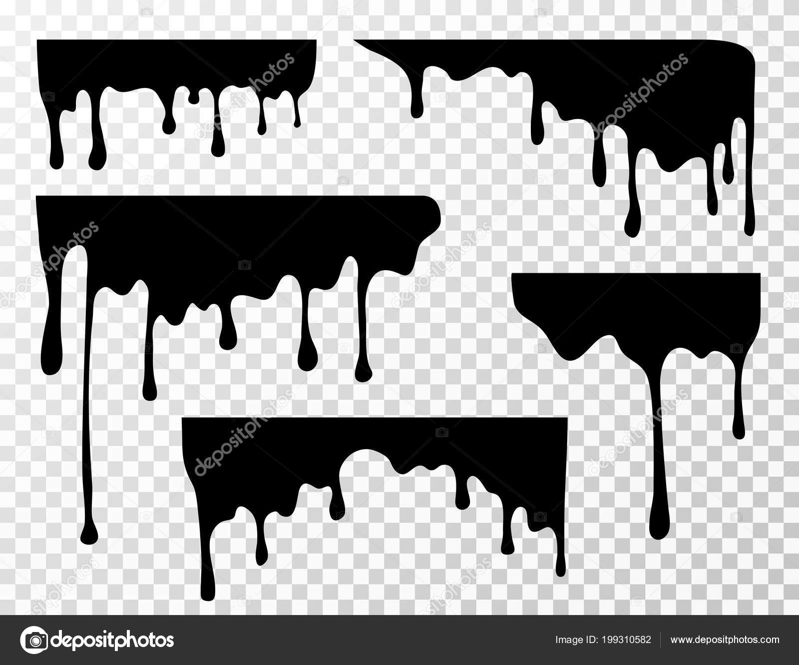 c897b13e3bd4b Black dripping oil stain, sauce or paint current vector silhouettes  isolated– stock illustration