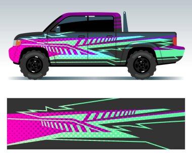 Racing car decals. Sport vehicle vinyl stickers vector set