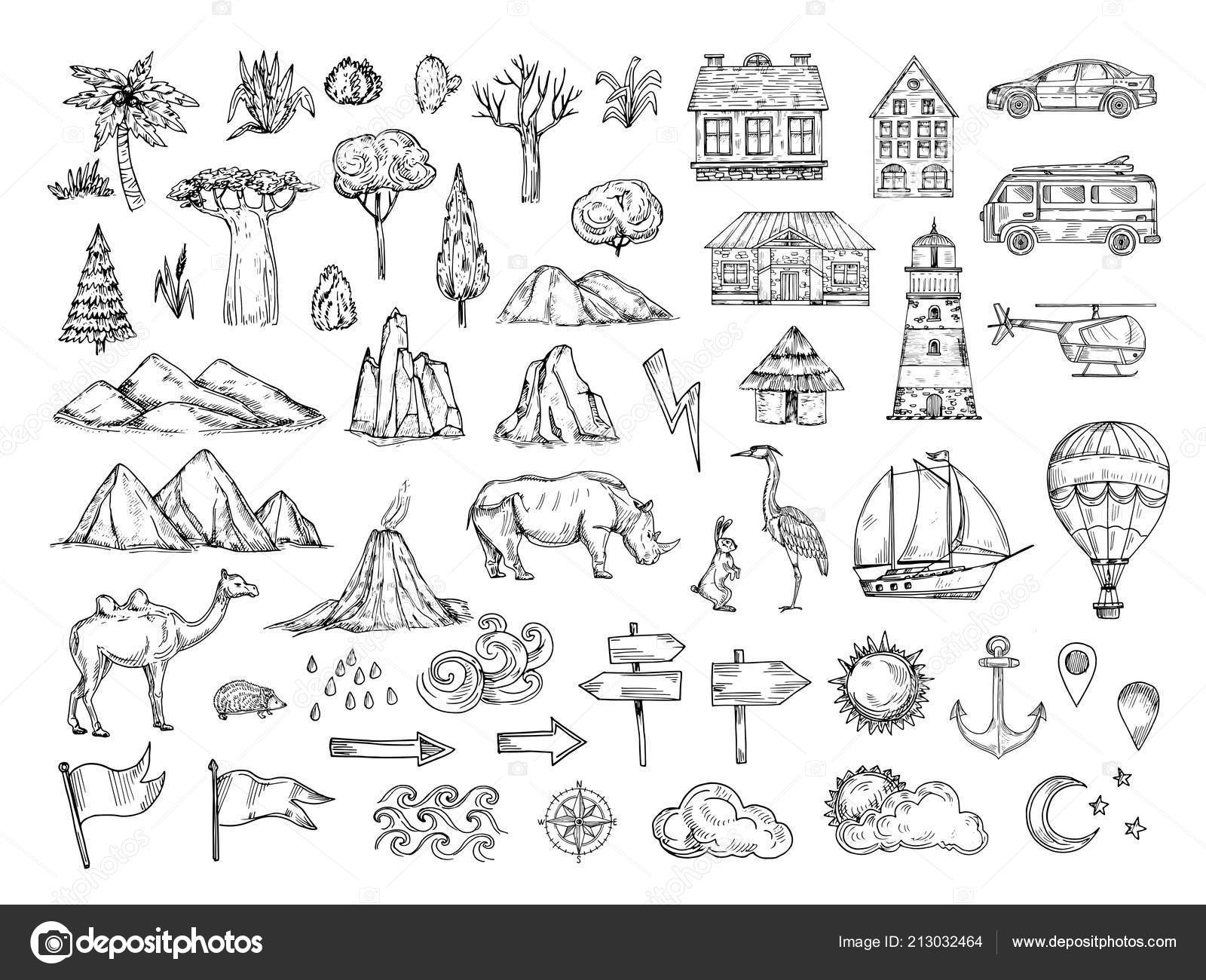 Map elements. Sketch hill and mountain, tree and bush ... on map making, map breakdown, typographic elements, map of baltimore and surrounding cities, map icons, map numbers, map symbols, map essentials, map people, map skills, map of maryland, body elements, map data, map scale, map tools, programming elements, user interface elements, miscellaneous elements, cartographic design, task elements, map key, map vintage, software elements, reference elements, map of speech, map pieces, map of arizona high schools, map of montana indian reservations, topic elements,