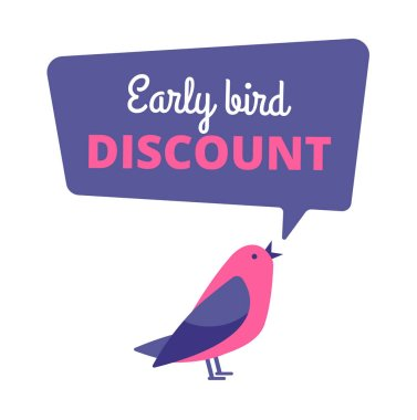 Early bird. Discount special offer, sale banner. Early birds vector concept