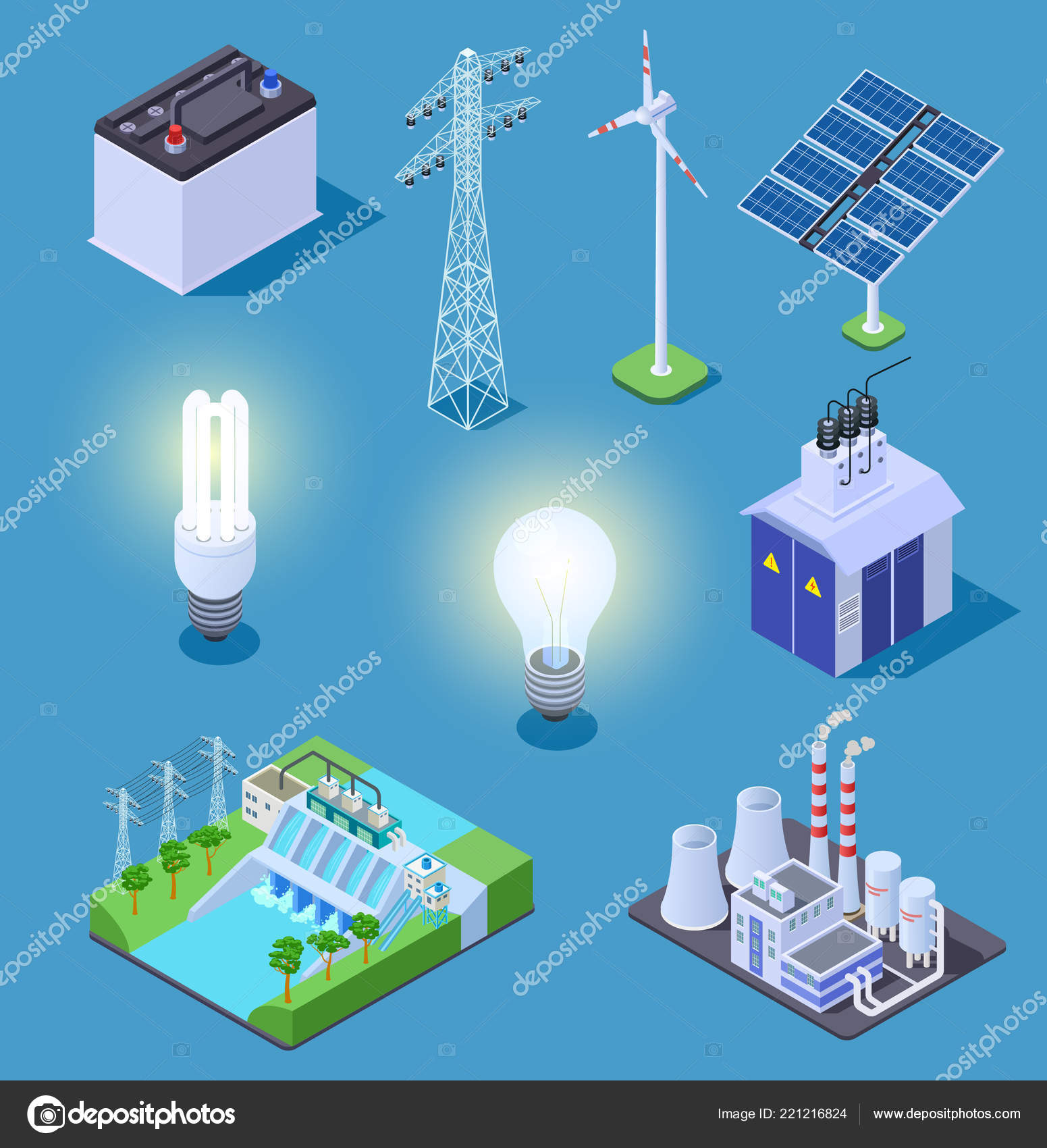 Electric power isometric icons. Energy generator, solar panels and on electrical power bar, circuit breaker, electrical power extender, wiring diagram, junction box, electrical room, electrical power gauge, electrical power transformer, electical panel, electrical power outlet, electrical power valve, electrical conduit, electrical power board, electrical power design, power cable, electrical spider box, electrical power socket, residual-current device, electrical panel sizes, three-phase electric power, electrical power controller, national electrical code, earthing system, maintenance panel, consumer unit, electricity distribution, electrical equipment, electrical power bus, electrical power wheel, ground and neutral, ring circuit, electrical power meter, earth leakage circuit breaker, electrical wiring, electricity meter, electrical power system, electrical power sensor,