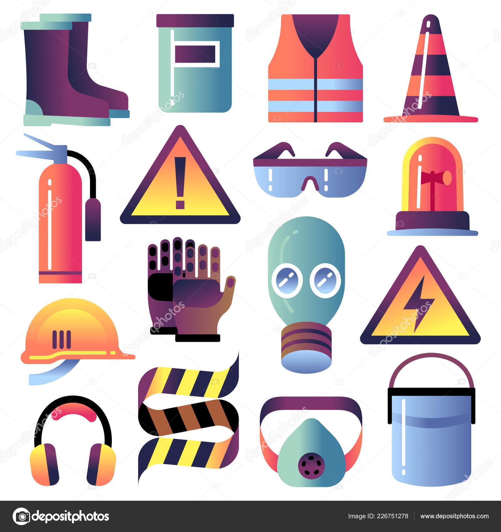 1e227d68 Equipo de seguridad. Protección personal para trabajos de construcción.  Casco, guantes y gafas