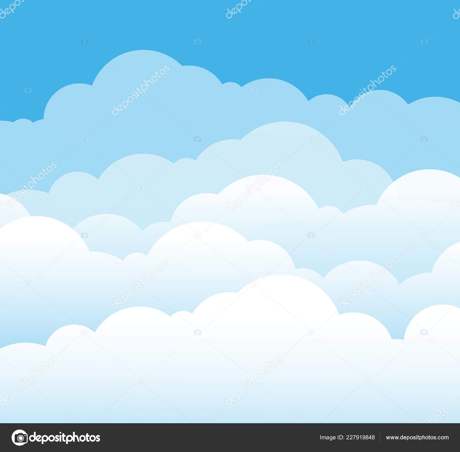 Sky And Clouds Cartoon Cloudy Background Heaven Scene With Blue