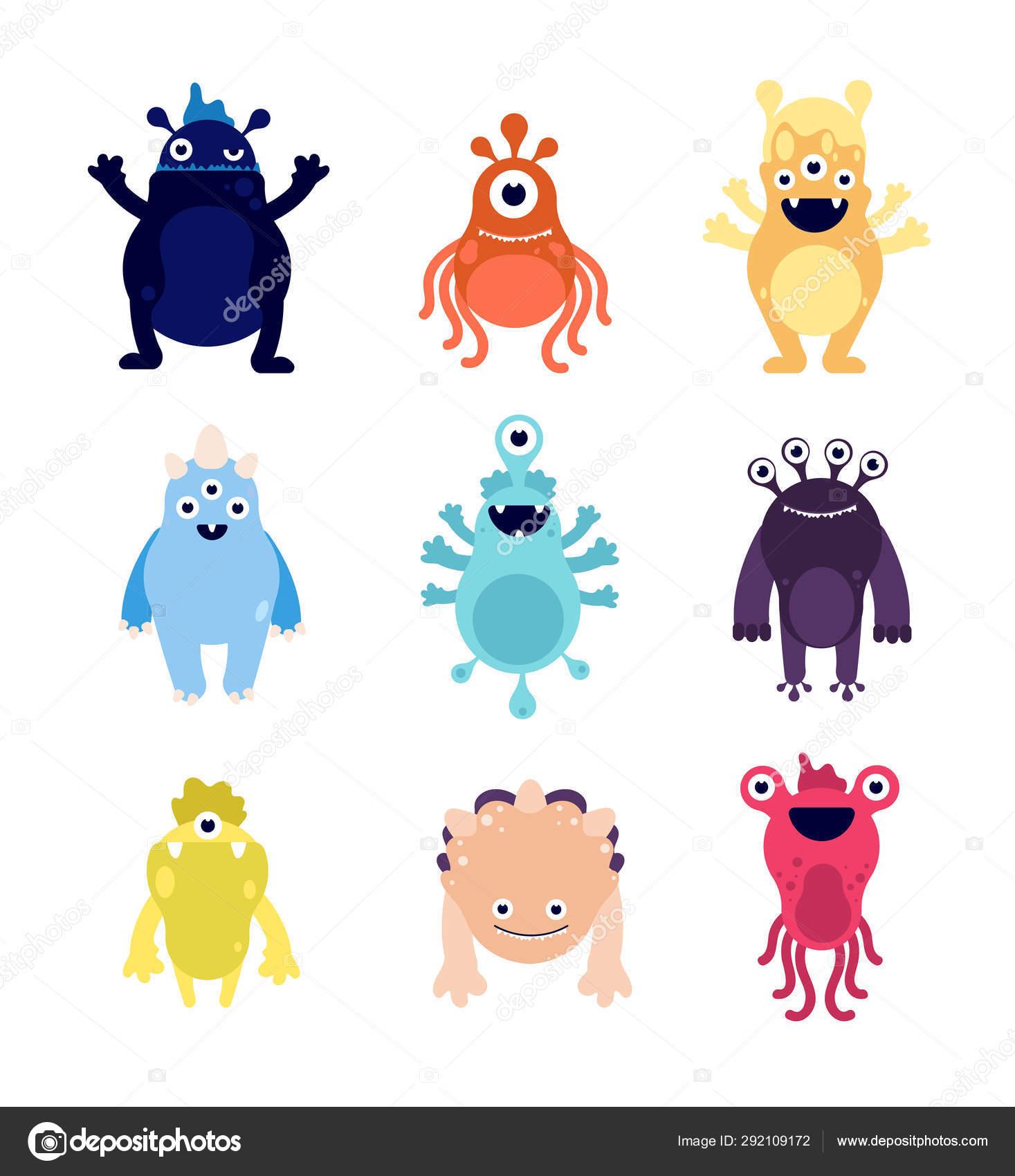 Funny monsters  Cute baby monster aliens bizarre avatars