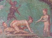 Sexfresken in Pompeji, Italien