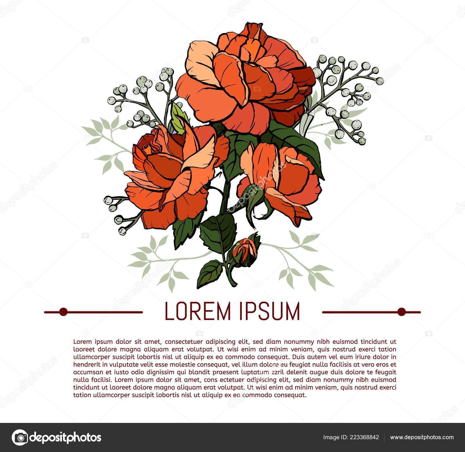 Vintage Blumen Auf Weissem Hintergrund Gesetzt Fruhling