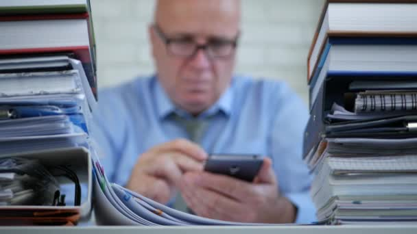Businessman Job Blurred Image Work With Documents and Contracts In Office Room