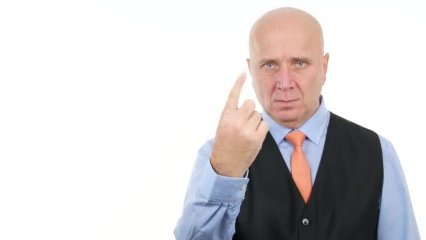 Serious Businessman Make Hand Gestures (Ultra High Definition, UltraHD, Ultra HD, UHD, 4K, 3840x2160)