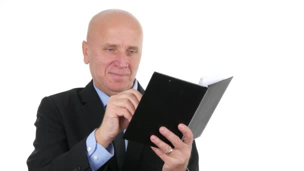 Businessman Office Job Presentation Write in Agenda Using Pen (Ultra High Definition, UltraHD, Ultra HD, UHD, 4K, 3840x2160)