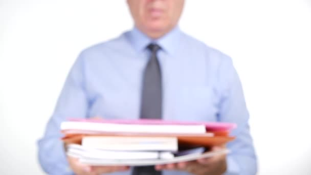 Close Up Accountant Hands Giving Accounting Documents Files Papers and Scripts