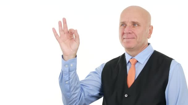 Zobrazeno Ok rukou podepsat jistý podnikatel gesta dobré úspěchy