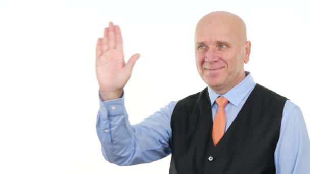 Podnikatel Make ruku stopku varování gesta znamená pobyt pryč