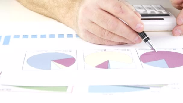 Businessman Calculating and Make Business Plans on Papers Charts