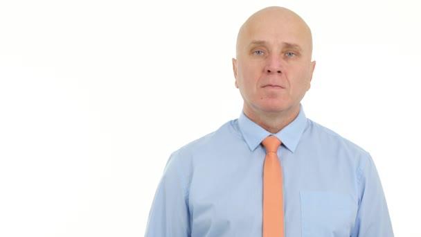 Úspěšný podnikatel Image střízlivý prezentace jistý vážný výraz