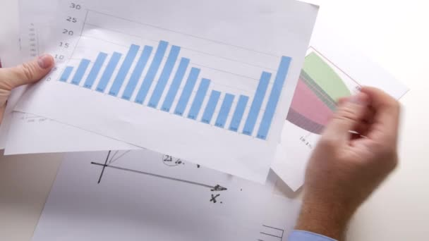 Businessman Job Analyzing Plans Diagrams and Charts