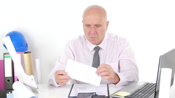 Office Company Daily Job Businessman Open One Letter with Good Financial News.