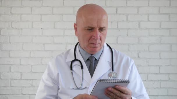 Confident Doctor Writing a Medical Prescription In Hospital