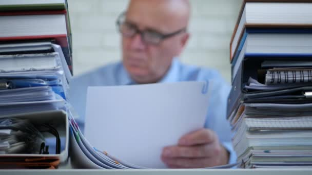 Blurred Image with Businessperson In Accounting Archive Working With Documents
