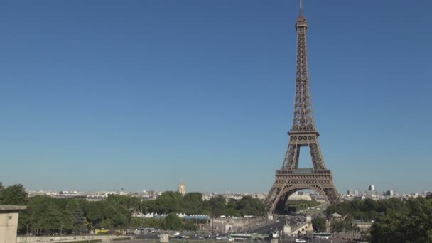 Paris Downtown Image with Eiffel Tower a Big Tourism Symbol