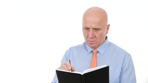 Olvasás és írás a napirend üzletember kép
